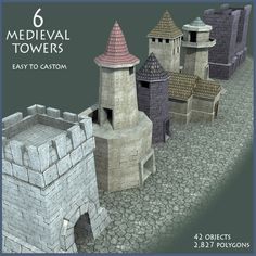 Elevate your workflow with the Six Medieval Towers asset from Mister Necturus. Find this & other Fantasy options on the Unity Asset Store. Medieval Tower, Medieval Fantasy, Castle Crafts, Castle Silhouette, 3d Fantasy, Big Project, Game Character, Towers, Crafts To Make