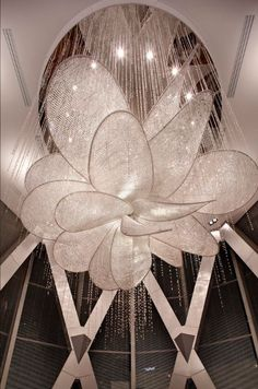 Indirect light crystal chandelier PEONY Contemporary