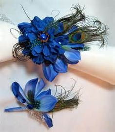 boutonniere ideas for a blue dress - - Yahoo Image Search Results