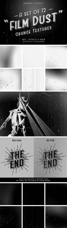 Film Dust Grunge Textures - download freebie by Pixelbuddha