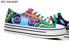 Princess Margaret Hand Painted Platform Custom Canvas Shoes