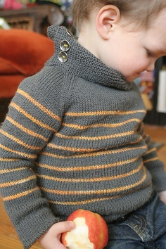super cute sweater for a boy or a girl. But Charlie didn't like stuff up around his neck.