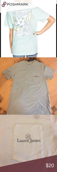Lauren James T-Shirt Worn and washed once. I love this shirt but sadly I'm so short it looks like a dress on me! So soft and comfy otherwise. Color of actual shirt looks like stock photo. Lauren James Tops Tees - Short Sleeve