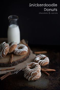 Snickerdoodle Donuts | chocolateandcarrots.com