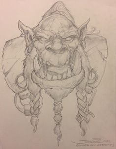 WoW Orc by Sam  Samwise  Didier Comic Art