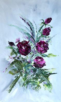 Flower Dances IV - Emilia Art, Oil on Canvas, 30x50 cm