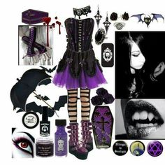 Beautiful vampire goth outfit!!!!