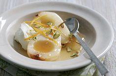 Honey roast pears with orange blossom and yoghurtHERO