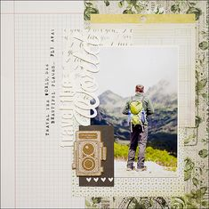 #papercraft #scrapbook #layout. Travel the world layout