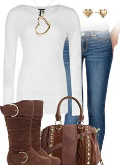 Jeans, Tee, Boots