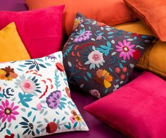 Pillowcover - EDEN - Brown to multicolors