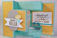 Trifold Shutter Card, Technique How To Video, along with free tutorial at http://www.stampstodiefor.com/patstamps/2013/09/trifold-shutter-card-technique-how-to.html