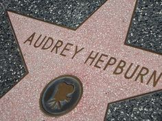 Audrey's star on the Hollywood Walk of Fame located on 1652 Vine Street in Los Angeles, California. Audrey was inducted on February 8, 1960. I'VE BEEN THERE AND SEEN IT <3