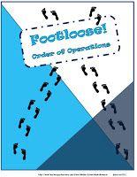 Order of Operations Task Cards - Footloose Math Game Math Teacher, Math Classroom, Teaching Math, Classroom Ideas, Teacher Stuff, Classroom Posters, Teaching Ideas, Fun Math, Math Games
