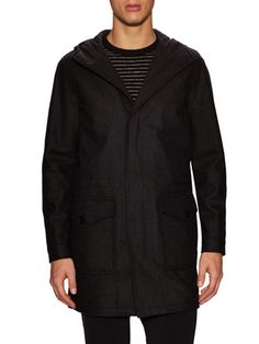 Kenneth Cole Black Label Wool Hooded Parka