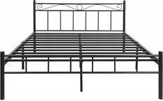 FurnitureKraft London King Size Metal Bed (Glossy Finish, Black): Amazon.in: Home & Kitchen