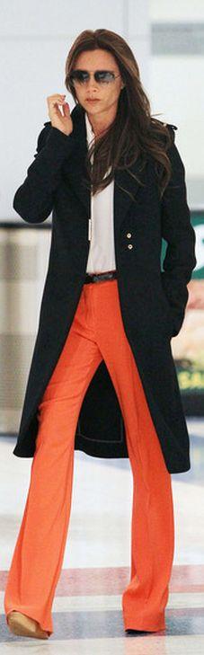Victoria Beckham: Sunglasses and coat – Victoria Beckham Collection  Shoes – Chloe