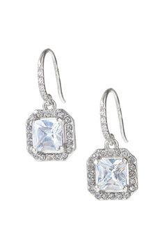 Vintage Inspired Cubic Circonia Drop Earrings | Deco Drop Earrings | Stella & Dot