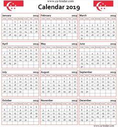 2019 calendar singapore printable