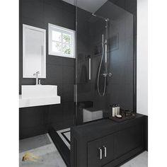 Desain Bathroom di Surabaya. Uk. 21m x 16m. Konsep black & white. Fasilitas : closet wash basin shower area mini cabinet. Desain kamar mandi dilengkapi dengan mini cabinet yang terletak di bawah kaca untuk menyimpan peratalan2 pembersih kamar mandi yang sebelumnya agak berantakan. Diatas cabinet ada space yang agak lebar  untuk tempat meletakkan peralatan mandi seperti sabun/shampoo/dan sejenisnya.  CP Rita Melani Pin BB 518f1207 Phone 082244558970 Email : karyacitrainterior@gmail.com…