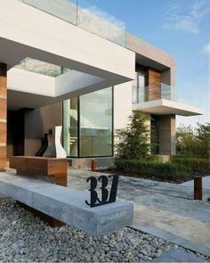 Alexandra Fedorova Designs an Elegant Contemporary House in Pestovo, Russia Country House in the Suburbs is a residential project completed by Alexandra Fedorova. Country House Design, Modern House Design, Country Houses, Beautiful Architecture, Contemporary Architecture, Contemporary Houses, Contemporary Decor, Residential Architecture, Interior Architecture