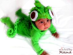 Rapunzel's Chameleon Pascal inspired baby costume by StitchedByMama on Etsy https://www.etsy.com/listing/199139761/rapunzels-chameleon-pascal-inspired-baby