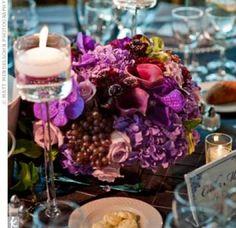 Purple Floral Centrepieces