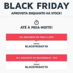 Últimas horas da #BlackFriday   Aproveita os descontos na #MyWheyStore em mws.pt até à meia-noite  Usa os códigos BLACKFRIDAY10 e BLACKFRIDAY15 consoante o valor da tua encomenda
