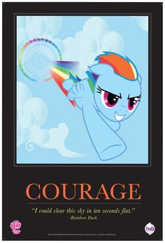 MLPFiM_ComicCon2012_Trolley_Poster_Courage_RainbowDash