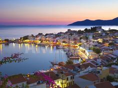 Harbour at Dusk, Pythagorion, Samos, Aegean Islands, Greece Photographic Print by Stuart Black at Art.com