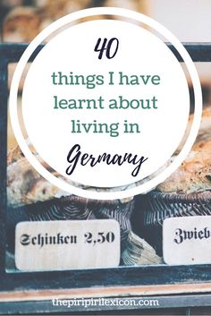 40 things I have learnt about living in Germany