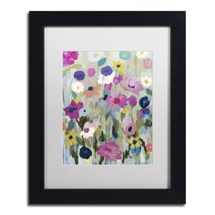 Too Pretty To Pick by Carrie Schmitt Matted Framed Painting Print