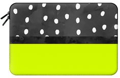 Casetify Macbook Pro 15 MacBook Tasche - Handdrawn neon lime color block black watercolor polka dots by Girly Trend by Girly Trend Macbook Pro, Tech Accessories, Casetify, How To Draw Hands, Lime, Polka Dots, Girly, Neon, Watercolor