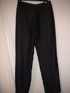 "Ann Taylor Petite Size 4P X 26"" Inseam Black Lined Silk Women Dress Pants #AnnTaylor #DressPants"