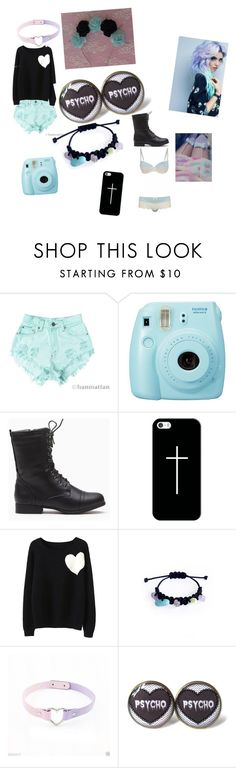 """""""Untitled #55"""" by candy-lover12 ❤ liked on Polyvore featuring Levi's, Fuji, Casetify and WithChic"""