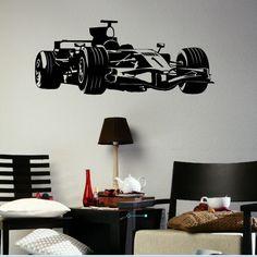 Formula One 1 Boys Wall Sticker / Wall Vinyl Art / Large Boys Wall Transfer x29