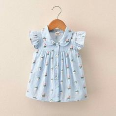 Frocks For Girls, Kids Frocks, Little Girl Dresses, Toddler Girl Style, Toddler Girl Outfits, Kids Outfits, Toddler Girls, Baby Girl Dress Design, Baby Girl Dress Patterns
