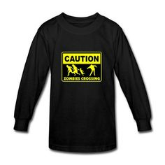 Zombies Crossing Caution  Youth T-shirts on Sale-Official Brands T-shirts shop from HICustom.net .24 hour service available. Walking Dead T Shirts, 24 Hour Service, Branded T Shirts, Zombies, Shirt Shop, Youth, Sweatshirts, Sweaters, Mens Tops
