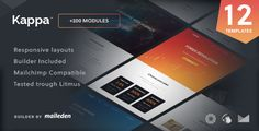 Kappa - 12 Responsive Email Templates + Builder