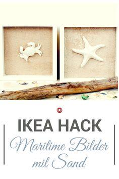 Der Ribba-Bilderrahmen von IKEA ist perfekt, um diesen tollen maritimen Bilder zu machen. Unser DIY zeigt dir, wie wir das gemacht haben.