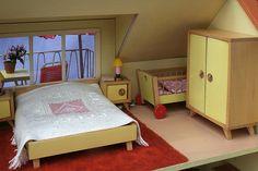 Puppenhaus mit Teich - 1959 Bodo Hennig - dolls house with a pond