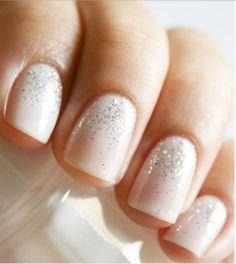 glittering bridal mani