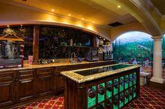 cool home bar area