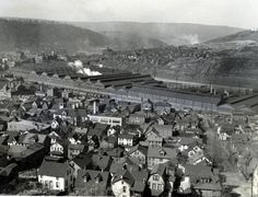 Cambria Iron Works and Steel Works in Johnstown, PA (circa 1910)