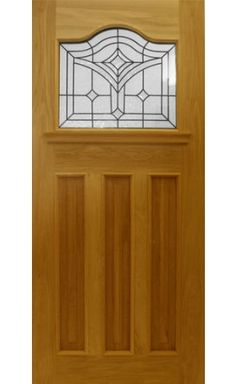 At UK Oak Doors we have a wide range of external doors to suit your needs. From glazed external doors, stable doors, veneered and more. Front Door Canopy, Oak Front Door, Wooden Front Doors, Glazed External Doors, External Oak Doors, 1930s Doors, 1930s House, Exterior Doors, House Front