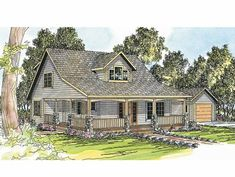 Eplans Farmhouse House Plan - Two-Story Bungalow Duplex - 2288 Square Feet and 5 Bedrooms(s) from Eplans - House Plan Code HWEPL55754