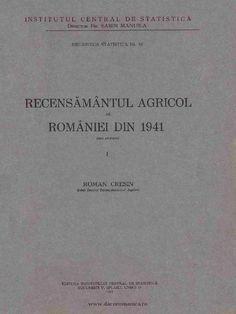 I'm reading Recensămîntul Agricol Al României Din 1941. Volumul I Date Provizorii on Scribd