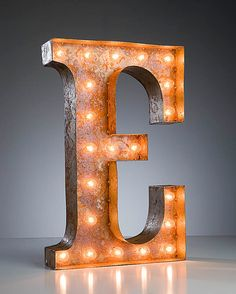 Vintage Marquee Lights - Ready to Ship - Letter E. $229.00, via Etsy.