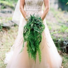 Fern Passion. Loved creating this cascade of ferns. One of my favorite bouquets ever. Teresa Sena Design (featured on Martha Stewart Weddings) Photo by Rachel Thurston