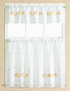 Spring Leaf Kitchen Curtain Set Valance 60 X 14 Two Tiers 30 X 36 Gold
